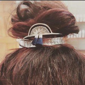 Boho Tassels Metal Hair pins Bun Cage